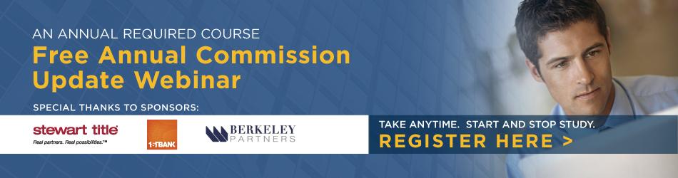 Annual Commission Update Webinar